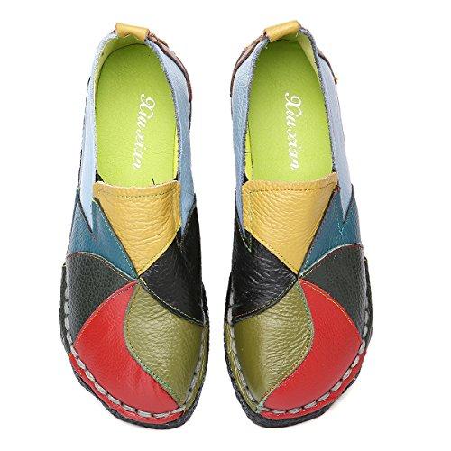 Socofy Mocasines Zapatos De Mujer De Cuero