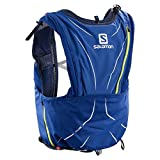 Salomon Bag ADV Skin 12Set w–Rucksack, Unisex Erwachsene, Blau (Surf The Web/Dress Blue/Acid Lime)
