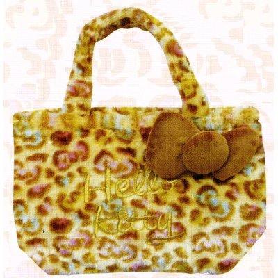 flauschige Hallo Kitty bunte Leoparden-Print (Japan-Import) (Kitty Plüschtiere)