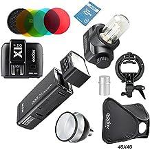 Godox AD200 Nuevo 2.4G TTL Bolsillo Flash 200Ws TTL HSS 1/8000s Flash +X1T-O+AD-S2 Reflector Estándar+AD-S11 Filtro +AD-S15 +S-Type+Softbox Para OlympusY Panasonic Serie de DSLR Cámaras