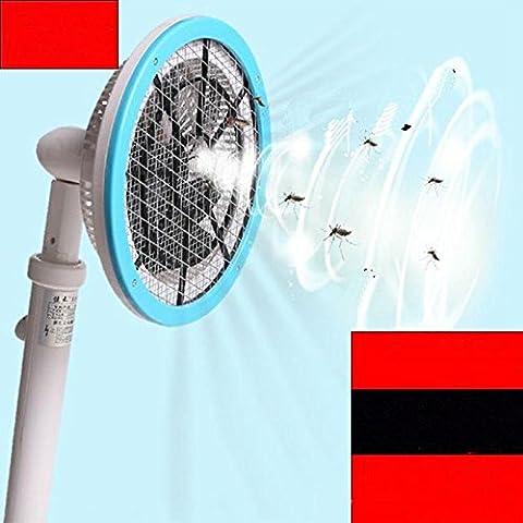 YWQ Avec une batterie de lithium électrique rechargeable à moustique électrique multi-fonctionnelle télescopique à pliage d'aspiration avec un anti-moustique anti-moustiquaire tiré par les mouches , blue