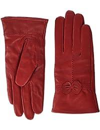 e13b896a1b5179 Butterme Luxury Ladies Weichen Schaffell Lederhandschuhe mit  Bowknot-Stich-Entwurf Fleece Futter…