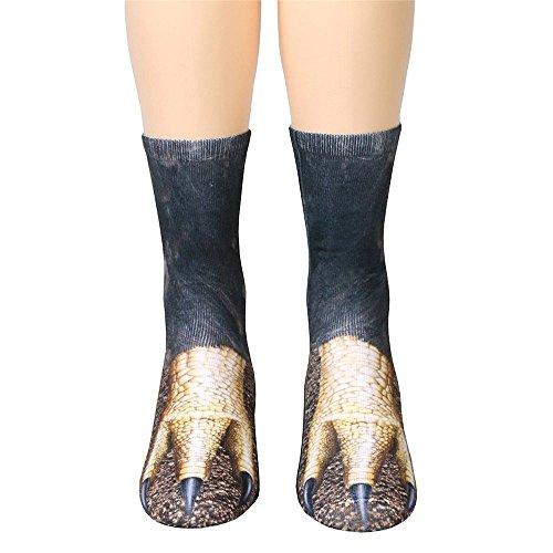 UJUNAOR Damen Herren Angora Socken 3D-Tier Gedruckt Unisex Warme Winter Soft Socke(F,One size)