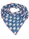 Cashmere Dreams Dreieckstuch aus Baumwolle - Hochwertiger Schal für Damen Jungen und Mädchen - XXL Hals-Tuch und Damenschal - Strick-Waren für Sommer und Winter 150cm x 120cm (blau)
