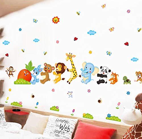 Cartoon Tier Freunde Kinder Baby Kinderzimmer Aufkleber Wandaufkleber Diy Blume Wohnkultur Tür Badezimmer Aufkleber Poster Wandaufkleber 80x204CM - 204 Poster