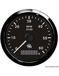 Osculati 27.325.03 - Contagiri 0-6000 RPM nero/nera (Revolution counter 0-6000 RPM black/black)