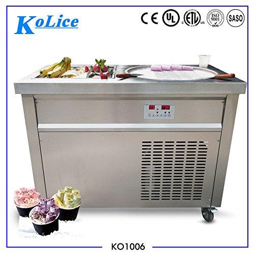 Kolice certificato ce emc panasonic compressore singolo quadrato padella soffriggere gelato ice cream macchina rotolo roll macchina ghiaccio macchina per il gelato fritto