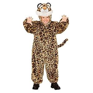 WIDMANN 98109?Disfraz para niños Leopard de Peluche, Mono con Capucha y máscara