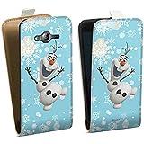 Samsung Galaxy J3 2016 Tasche Hülle Flip Case Disney Frozen Olaf Geschenk Fanartikel