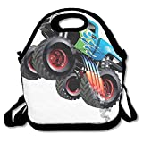 Pzeband Cartoon Monster Truck Cool Vehicle Modified to The Perfection Lunch Bag Tote for School Work Outdoor
