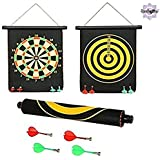 TamBoora  Dul Dul High Quality Big Size Foldable Magnetic Dart Board Game With 6 Aassorted Colours Non Pointed Magnetic Darts, Double Faced Portable, Strong And Powerful Magnets, Solid Darts, 12 Inches BIG Size