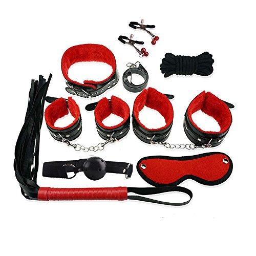 Bondage Set Kit, 8 Stück unter dem Bett Restraint System Slave SM Fessel Bondage Set Erwachsene SM sexspielzeug für paare (Rot und Schwarz)