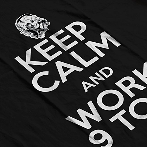Dolly Parton Keep Calm And Work 9 To 5 Men's Hooded Sweatshirt Black