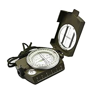 Ueasy Pia International Professional Multifunction Military Army Metal Sighting High Accuracy Waterproof Compass (Green)