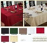 "Burgundy / Wine Tablecloth 52""x52"" Luxury Jacquard Hampton Table Linen"