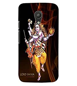 ColourCraft Lord Shiva Design Back Case Cover for MOTOROLA MOTO G2