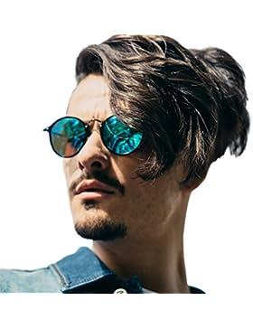 Retro Gafas de Sol Redondas Mujeres Hombre Polarizadas Con Gafas de Sol Para Conducir Viajes Playa, 100% de Protección...