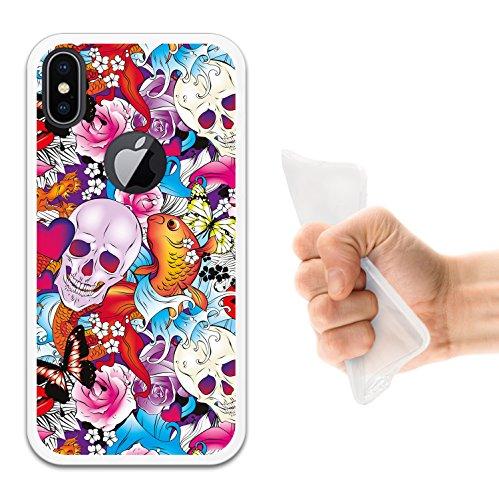 iPhone X Hülle, WoowCase Handyhülle Silikon für [ iPhone X ] Militärischer Stern Handytasche Handy Cover Case Schutzhülle Flexible TPU - Schwarz Housse Gel iPhone X Transparent D0568