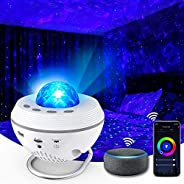 Star Projector 3 in 1 Night Light 2021 Smart WiFi Galaxy Projector Work with Alexa & Google Assistant, Oce