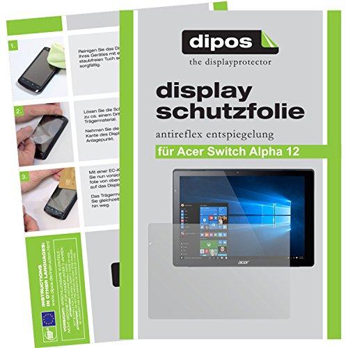 dipos I 2X Schutzfolie matt passend für Acer Switch Alpha 12 Folie Bildschirmschutzfolie