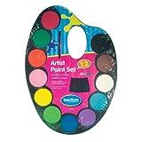 Kinder Wasserfarben-Set 12 Farben Palette und Pinsel, & Craft