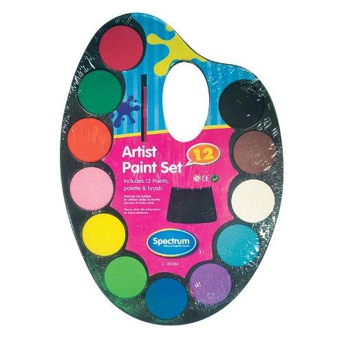 Kinder Wasserfarben-Set 12 Farben Palette und Pinsel, & Craft (Paint Für Kinder Palette)