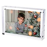 Trixes Magnetischer Acryl-Fotorahmen - 15 cm x 10 cm - Doppelseitiger Display-Block - Klar Transparent - 2 cm Dicke