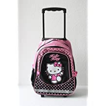 Hello Kitty - Grand sac à roulette trolley - sac à dos cartable