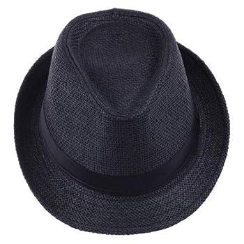 V SOL Sombrero Negro Paja...