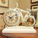 WEI Tischuhr Wohnzimmer Uhr Retro Europäischen Stil Uhr Kreative Dekorative Uhr Dekoration Fahrrad Uhren Ornamente,BBB