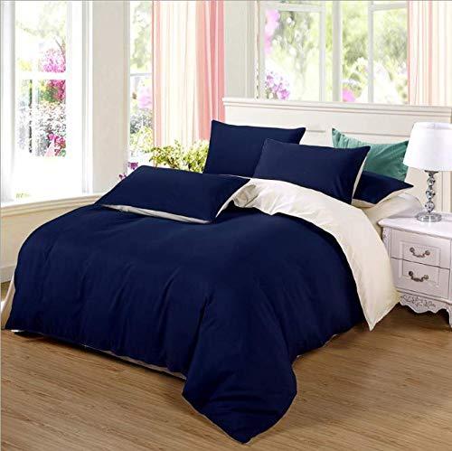 SHJIA Bettwäsche Set Bettbezug Set Kissenbezüge Baumwolle gewaschen Tröster Bettwäsche A 150x200cm -