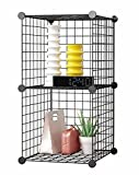 #7: DIY Closet Cabinet By House of Quirk Metal Wire Storage Cubes Organizer (2 - Regular Cube)