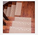 demana rutschfest Stufenmatte Treppenstufe Teppich rutschfeste Stufenmatten Boden Treppe Teppiche Stufenmatte Treppenstufe Displayschutzfolie Mats (1PCS), beige, 55 * 22 * 4.5cm