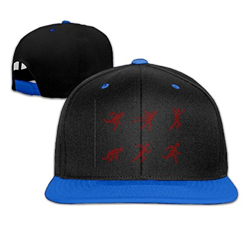 fengxutongxue Stickman Running Silhouette Men Women Hip Hop Baseball Caps (Silhouette Visier)