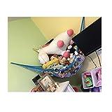 Jumbo Spielzeug-Hängematte, Powkoo Extra große Spielzeug-Hängematte mit Netzaufbewahrung | Maße:213,4x 149,9x 149,9cm für Teddybären, Stofftiere, Kinderzimmerspielzeug