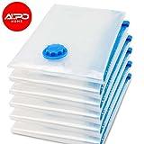 AlpoHome Vakuumbeutel - Robuste Kompressionsbeutel zur Aufbewahrung von Kleidung, Bettdecken und Bettwäsche -3 tlg Set 1 Größe 40*60 - Vakuum Aufbewahrungsbeutel für Kleidung. (3)