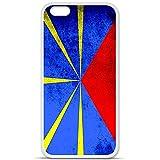 Housse Coque Etui Apple iPhone 6 / 6S silicone gel Protection arrière - Drapeau La...