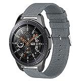 WEINISITE 22 mm Universal Armband für Samsung Galaxy Watch SM-R800 (46MM), Segeltuch Ersatzband für Samsung Galaxy Watch SM-R800 (#5)