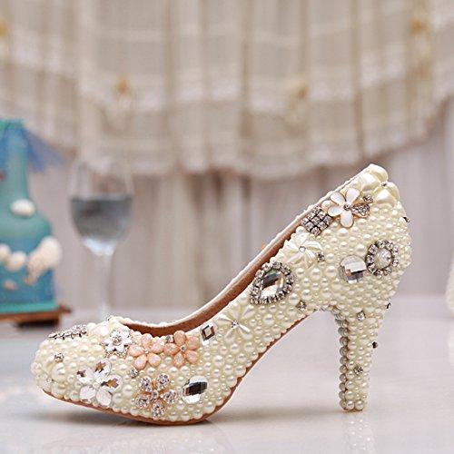 Minitoo , Semelle compensée femme Blanc - Ivory-8cm Heel