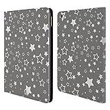 Head Case Designs Sterne Silber Urlaub Kollektion Brieftasche Handyhülle aus Leder für iPad Air 2 (2014)