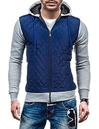 BOLF - Sweat-shirt á capuche – Fermeture éclair – CADDIIN A91 – Homme