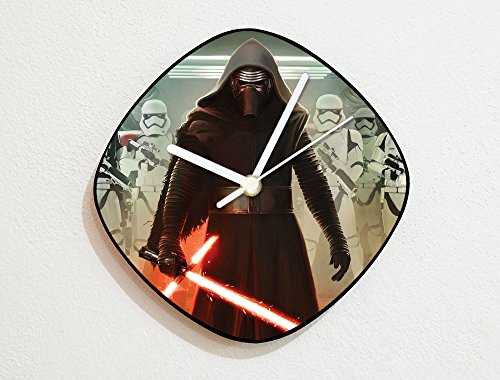 Star Wars VII - Kylo Ren - The Dark Side - Sith Lord - Custom Name Wall Clock