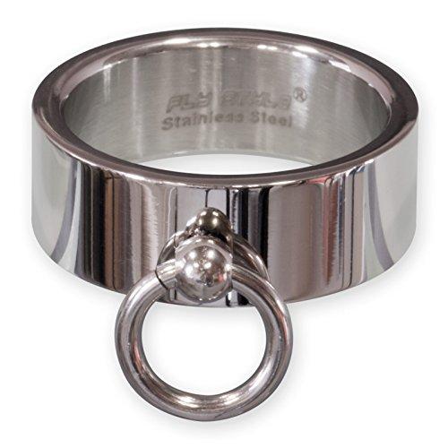 Fly Style Damen Herren Band-Ring der O Edelstahl poliert & matt silber (15.9 – 24.9 mm) risst129