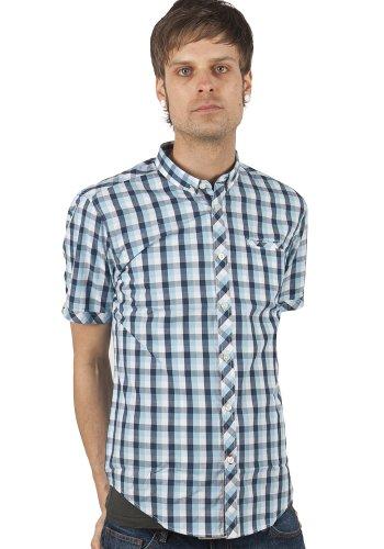 Merc hochfelden Check Shirt Chemise pour homme Blue Bleu - Bleu