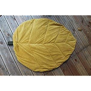 """""""Leaf"""" Decke/Kissen aus Cord/Outdoorstoff"""