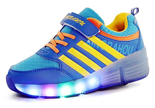 NEWZCERS-Nios-unisex-adultos-LED-patines-de-ruedas-patines-entrenador-con-una-sola-rueda