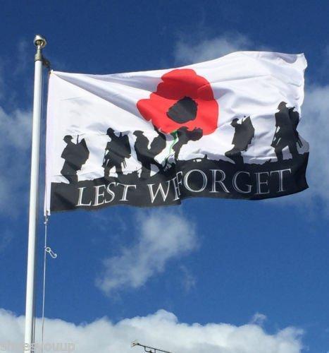 WELTKRIEG 1ersten Weltkrieges, dass wir nicht vergessen 5ft x 3ft Army British Forces Flagge + 59mm Button