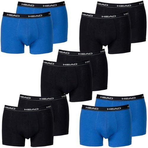HEAD Men Boxershort 841001001 Basic Boxer 10er Pack 6x black 4x blue/black