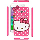 Wow Planet Cute Hello Kitty Silicone With Pendant Back Case Cover For Samsung Galaxy J1 (2016)