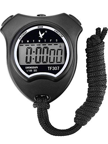 Mudder Sport Digitale Stoppuhr Timer mit Großes LCD-Display , Schwarz